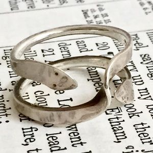 SNAKE wraparound ring sterling silver signed